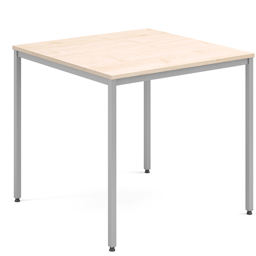 Rectangular-Flexi-Classroom-Table-with-Silver-Frame-800mm-Square-Maple-Nobis-Education-Furniture