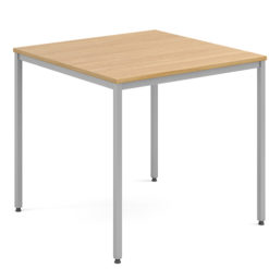 Rectangular-Flexi-Classroom-Table-with-Silver-Frame-800mm-Square-Oak-Nobis-Education-Furniture