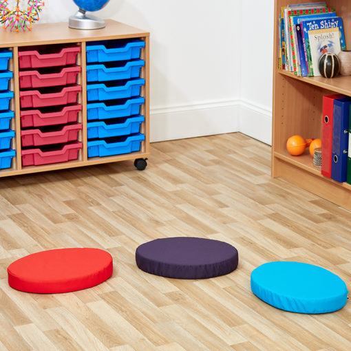 ACORN Set of 20 Round Children's Seat Pads - Choice of 14 Colours