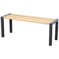 1500mm Wide cloakroom bench with slated seat