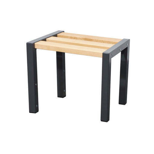600mm cloakroom bench with slated seat
