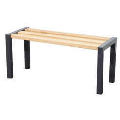 1200mm cloakroom bench with slated seat
