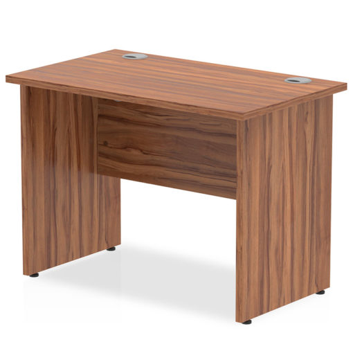 NEXT DAY Impulse Straight Panel Desk - 1000mm Width walnut nobis education furniture