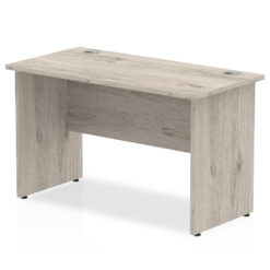 NEXT DAY Impulse Straight Panel Desk - 1200mm Width Grey Oak nobis education furniture