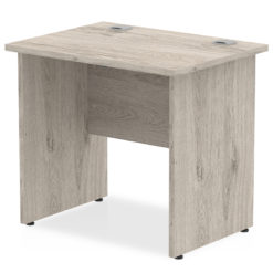 NEXT DAY Impulse Straight Panel Desk - 800mm Width Grey Oak nobis education furniture