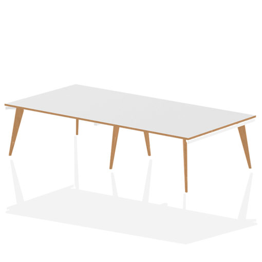 Oslo extended rectangular boardroom table - 3200mm wide nobis education furniture