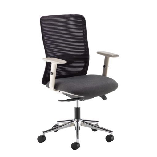 Nobis Office Furniture - Arcade black mesh back operator chair with black fabric seat