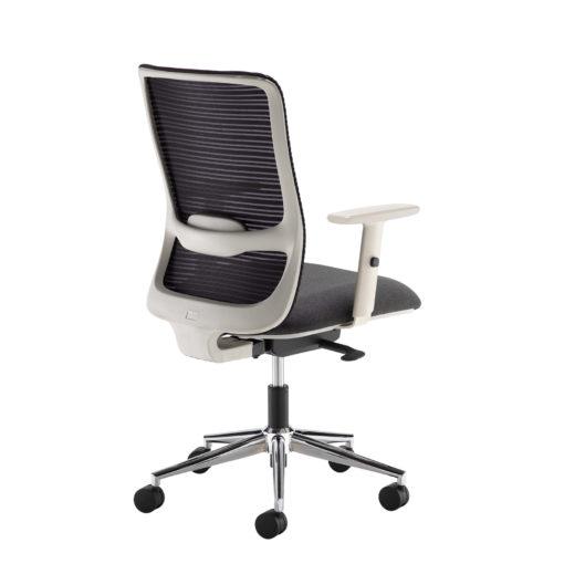 Arcade black mesh back operator chair with black fabric seat