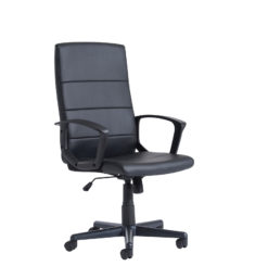 Nobis Office Furniture - Ascona high back managers chair - black faux leather