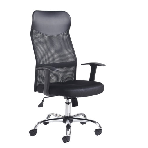 Nobis Office Furniture - Aurora high back mesh operators chair - black