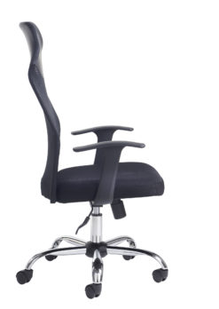 Aurora high back mesh operators chair - black