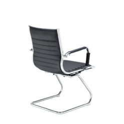 Bari executive visitors chair - black faux leather