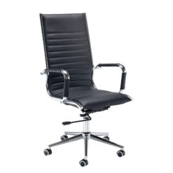 Nobis Office Furniture - Bari high back executive chair - black faux leather