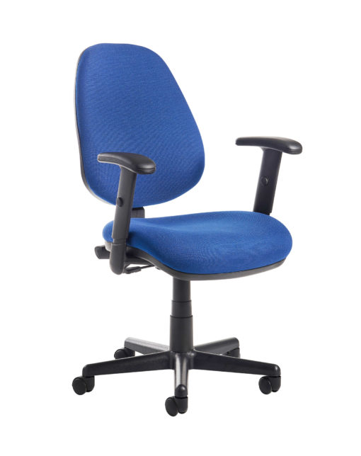 Nobis Office Furniture - Bilbao fabric operators chair with adjustable arms - blue