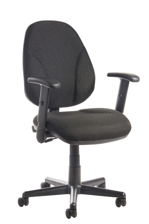 Nobis Office Furniture - Bilbao fabric operators chair with lumbar support and adjustable arms - black