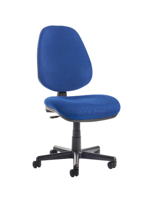 Nobis Office Furniture - Bilbao fabric operators chair with no arms - blue