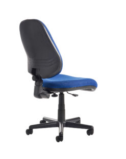 Bilbao fabric operators chair with no arms - blue