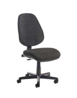 Nobis Office Furniture - Bilbao fabric operators chair with no arms - charcoal
