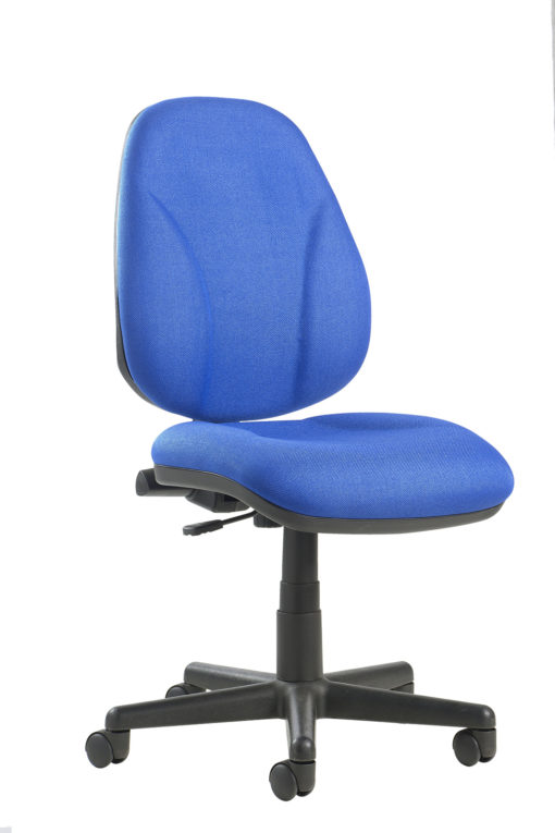 Nobis Office Furniture - Bilbao fabric operators chair with lumbar support and no arms - blue