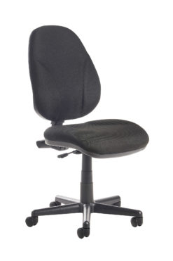 Nobis Office Furniture - Bilbao fabric operators chair with lumbar support and no arms - black