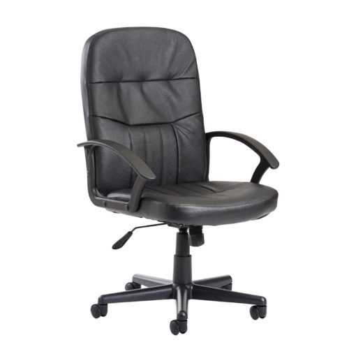 Nobis Office Furniture - Cavalier high back managers chair - black leather faced