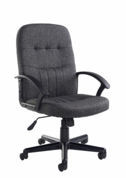 Nobis Office Furniture - Cavalier fabric managers chair - charcoal