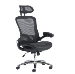 Nobis Office Furniture - Curva high back mesh chair - black