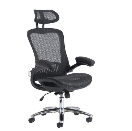 Nobis Office Furniture - Curva high back mesh chair - black