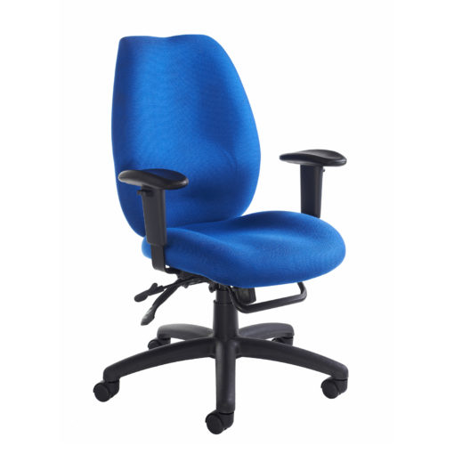 Nobis Office Furniture - Cornwall multi functional operator chair - blue