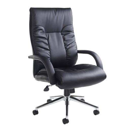 Nobis Office Furniture - Derby high back executive chair - black faux leather