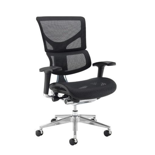 Nobis Office Furniture - Dynamo Ergo mesh back posture chair with chrome base - black