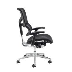 Dynamo Ergo mesh back posture chair with chrome base - black
