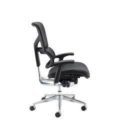 Dynamo Ergo leather posture chair with chrome base - black