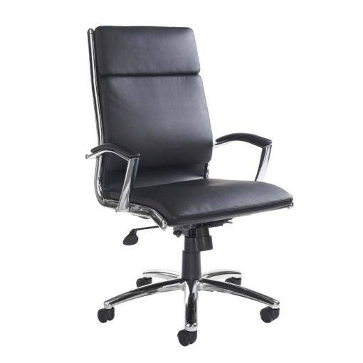 Nobis Office Furniture - Florence high back executive chair - black faux leather