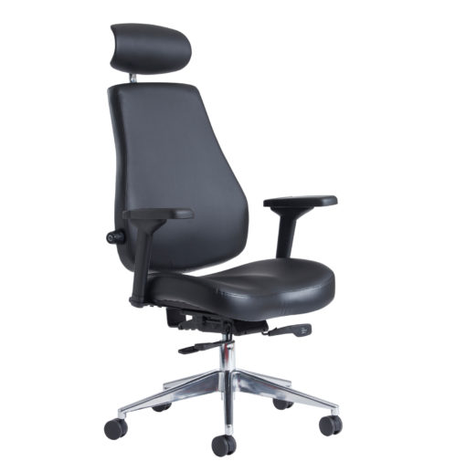 Nobis Office Furniture - Franklin high back 24 hour task chair - black faux leather