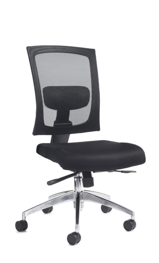 Nobis Office Furniture - Gemini mesh task chair with no arms - black