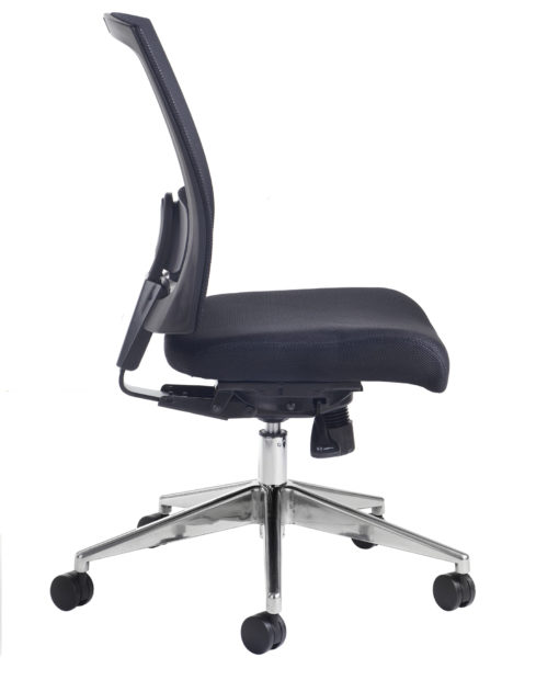 Gemini mesh task chair with no arms - black