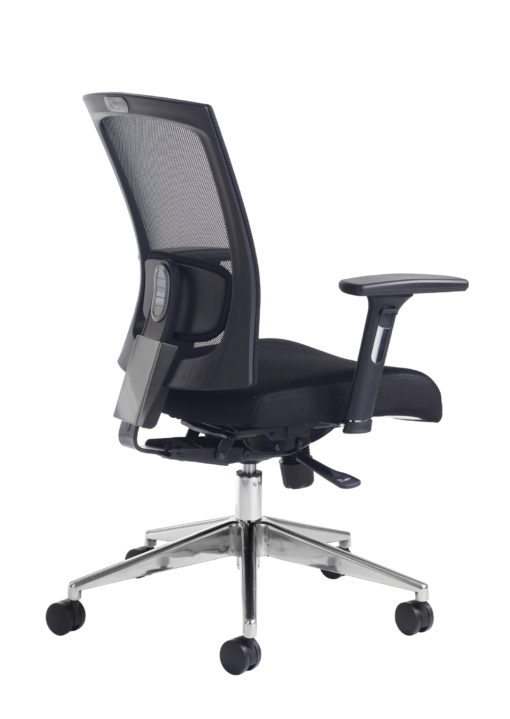 Nobis Office Furniture - Gemini mesh task chair with adjustable arms - black