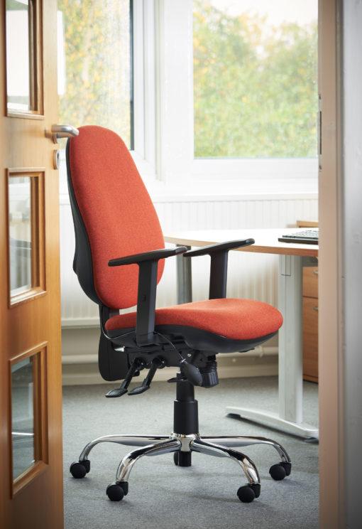 Jota ergo 24hr ergonomic asynchro task chair - red