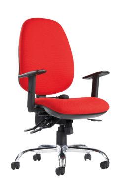 Nobis Office Furniture - Jota ergo 24hr ergonomic asynchro task chair - red