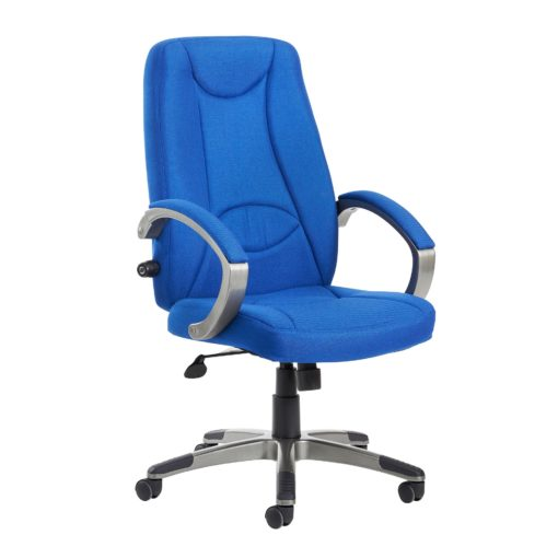 Nobis Office Furniture - Lucca high back fabric managers chair - blue