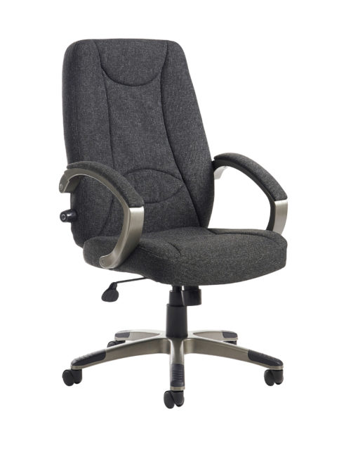 Nobis Office Furniture - Lucca high back fabric managers chair - charcoal