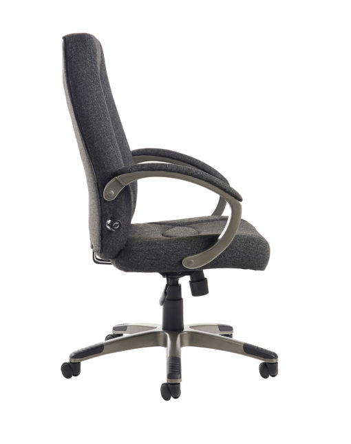 Lucca high back fabric managers chair - charcoal