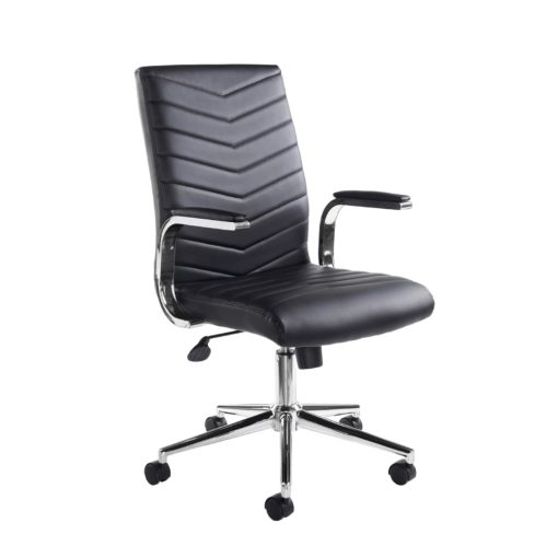 Nobis Office Furniture - Martinez high back managers chair - black faux leather