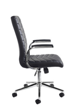 Martinez high back managers chair - black faux leather