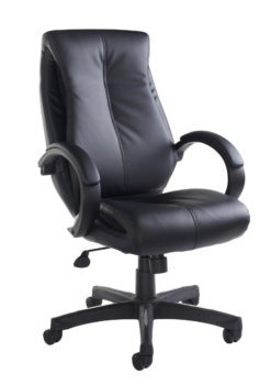 Nobis Office Furniture - Nantes high back managers chair - black faux leather