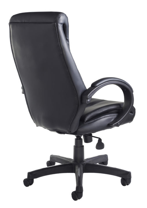 Nantes high back managers chair - black faux leather