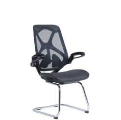 Nobis Office Furniture - Napier high mesh back visitors chair with mesh seat - black