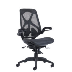 Nobis Office Furniture - Napier high mesh back operator chair with mesh seat - black
