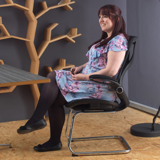 Napier high mesh back operator chair with mesh seat - black